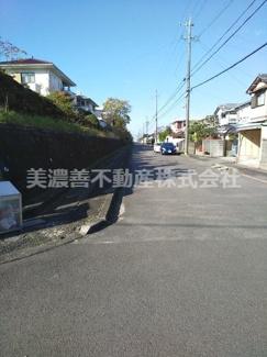 【前面道路含む現地写真】55991 岐阜市日野北土地