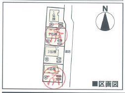 【区画図】クレイドルガーデン倉敷市玉島乙島第6 3号棟