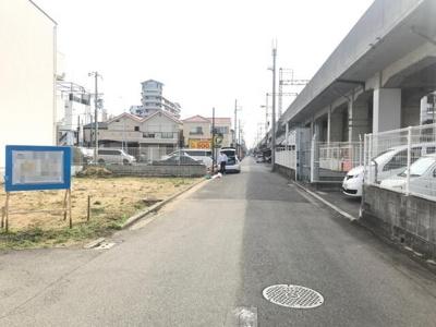 【前面道路含む現地写真】堺市堺区柏木町 土地