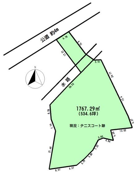 【区画図】アパート・住宅用地・資材置場用地 日高市上鹿山