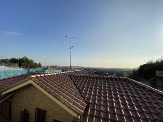 標高約18mの高台でリビングから市内一望の見晴らしです。