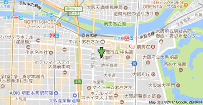 【地図】ライフコート天満橋