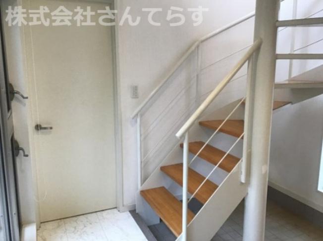 らせん階段です