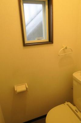 トイレに窓があります
