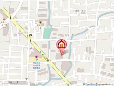 【地図】アクアベール松末・