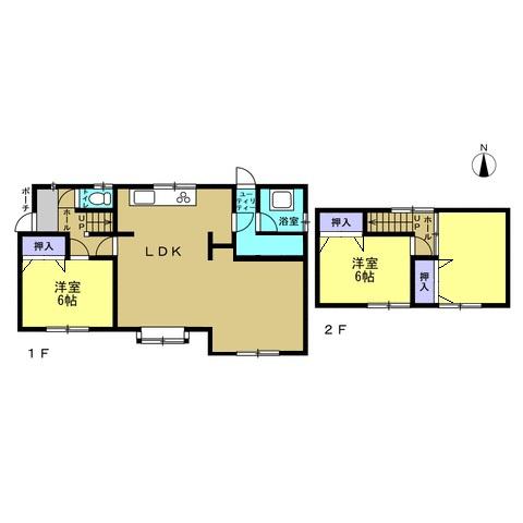 【リフォーム予定間取図】リビングの拡張を行い、リビング以外の各居室は全室洋室仕様に変更します。