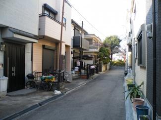 【前面道路含む現地写真】尼崎市西難波町 新築戸建