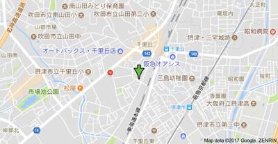 【地図】アウラ千里丘