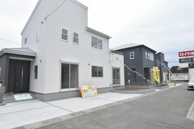 【前面道路含む現地写真】北本市本宿5丁目 新築分譲住宅全3棟
