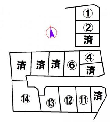 【区画図】西脇市黒田庄町岡ヒルズタウン岡12号地