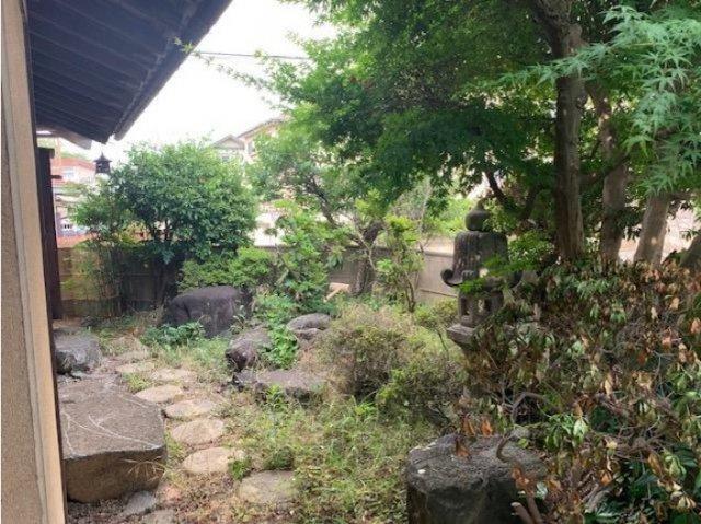 お庭があります