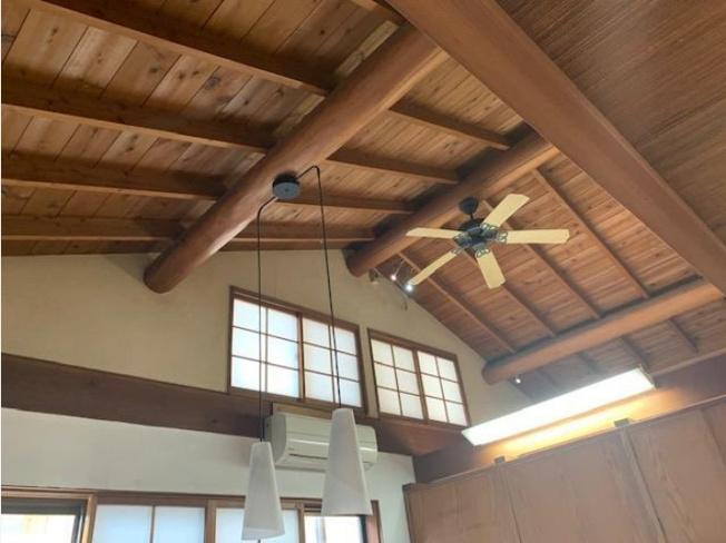 天井が高く開放的です