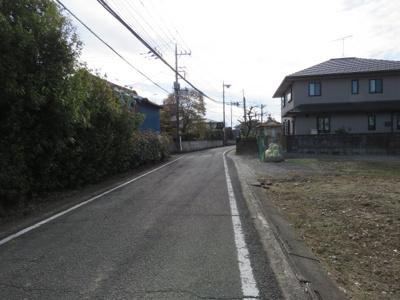 【前面道路含む現地写真】坂戸市戸口売地