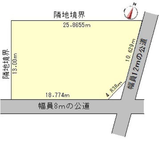 【区画図】北見市高栄西町5丁目7番1号 中古売家