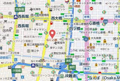 【地図】M.hills南堀江south