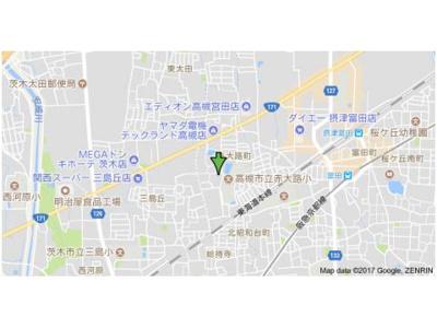 【地図】バーンフリート赤大路B棟