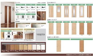 建具の色も床の色に合わせておしゃれを演出しております。