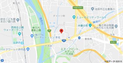 【地図】クレイノハイム ルーエ