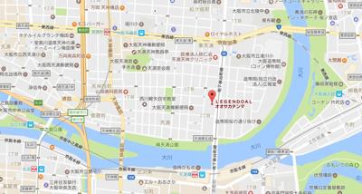 【地図】レジェンドール大阪天満Gレジデンス