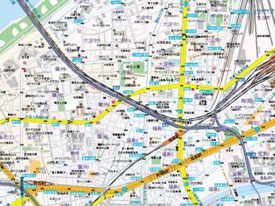 【地図】ウィステリア西梅田