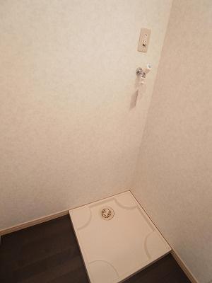 グランキャッスルの室内洗濯機置場