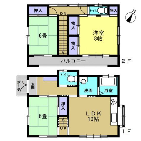 3LDK 家事動線のよい間取りです。家事時短になります。