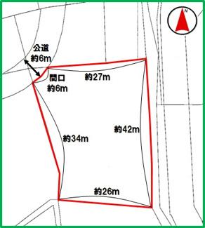 【区画図】うるま市塩屋(345.45坪)