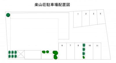 楽山荘駐車場