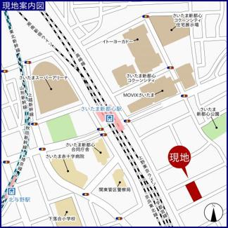 【地図】ダイアパレス大宮