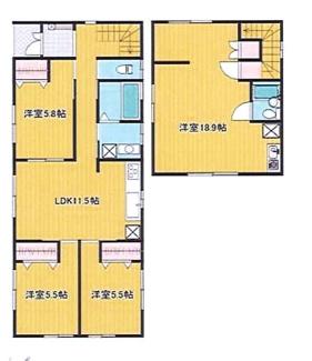 木更津市中島 中古一戸建 袖ケ浦駅 2世帯住宅としても利用可能です。