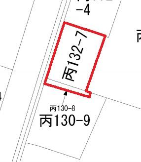 【区画図】筑西市丙土地