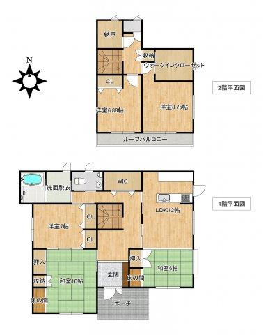 45坪の余裕の広さ。収納が豊富、メーターモジュールで幅広です。三井ホームで揺れにも強い