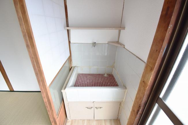 洗面台があるのがうれしい。