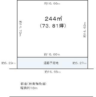 【土地図】武蔵村山市神明1丁目売地