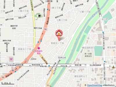 【地図】ハイツフレンド