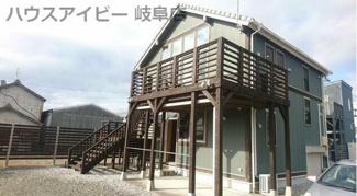 岐南町徳田西 中古住宅 築10年 敷地面積110坪 大きなウッドデッキのついたゆとりのあるお家です♪