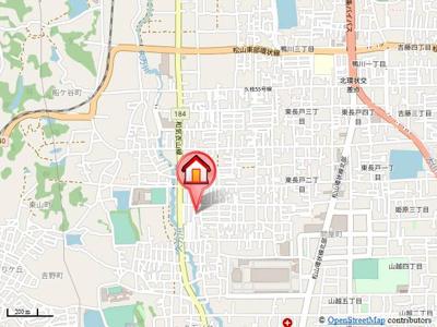 【地図】アメニティ長戸1