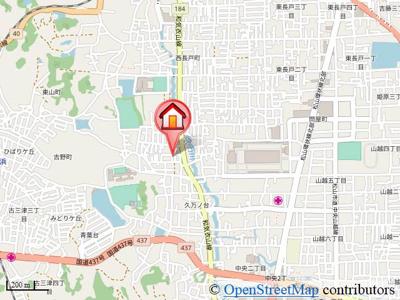 【地図】グランコート久万ノ台A・B棟