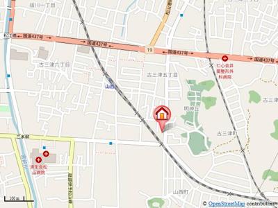 【地図】フレグランス山西 Ⅱ棟