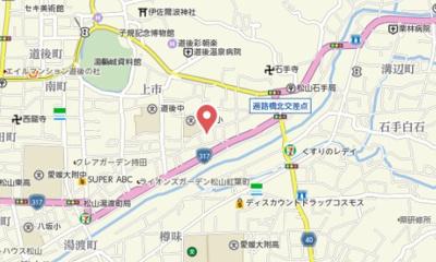 【地図】ベレオ道後