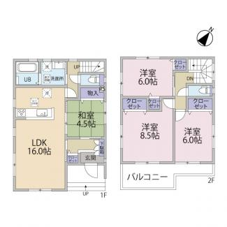 4LDK 建物面積99.36㎡(30.05坪)
