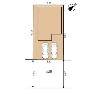 東南向き整形地 敷地面積:124.99㎡(37.80坪)