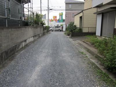 【前面道路含む現地写真】熊谷市原島 550万 土地
