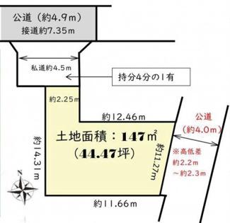 【土地図】平塚市岡崎 売地