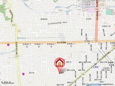 【地図】カーサ針田 A棟