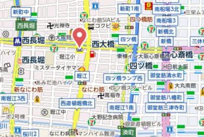 【地図】ヴェルデ北堀江