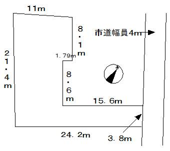 【区画図】菖蒲町売地