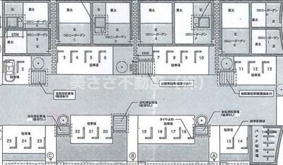 【区画図】AURA243多摩平の森 駐車場