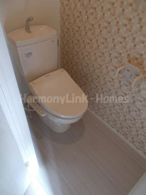 La.clairesのゆったりとした空間のトイレです