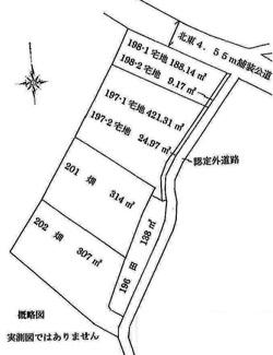 【土地図】比企郡川島町三保谷宿 資材置き場用地 413坪
